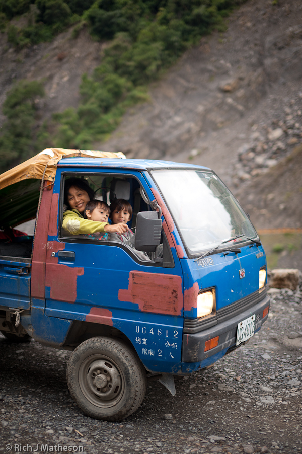 Little Blue Truck on the South Cross Island Highway, Taiwan
