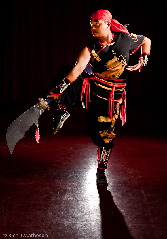 Martial arts troupe performer