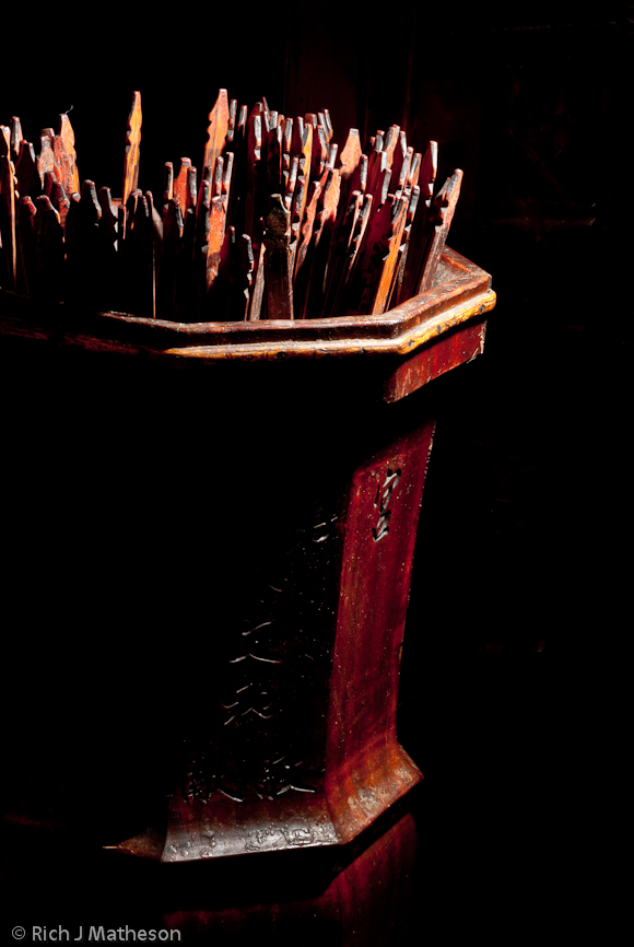 Divination Sticks in Temple, Tainan City, Taiwan