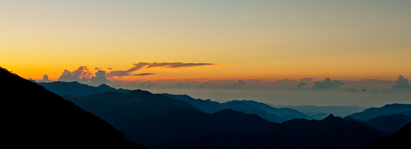 Sunrise Near East Peak Yushan Taiwan Nature