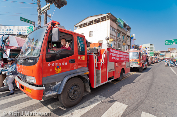 Fire Trucks at Yanshui