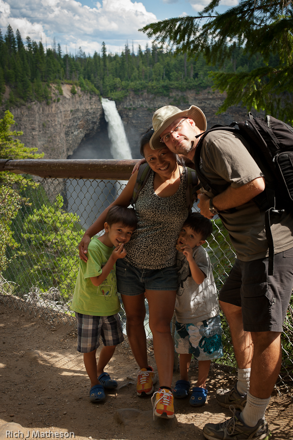 Family trip to Wells Gray Provincial Park in Clearwater, British Columbia, Canada