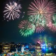 Fireworks at Kaohsiung's Wannian Folklore Festival 高雄萬年季煙火